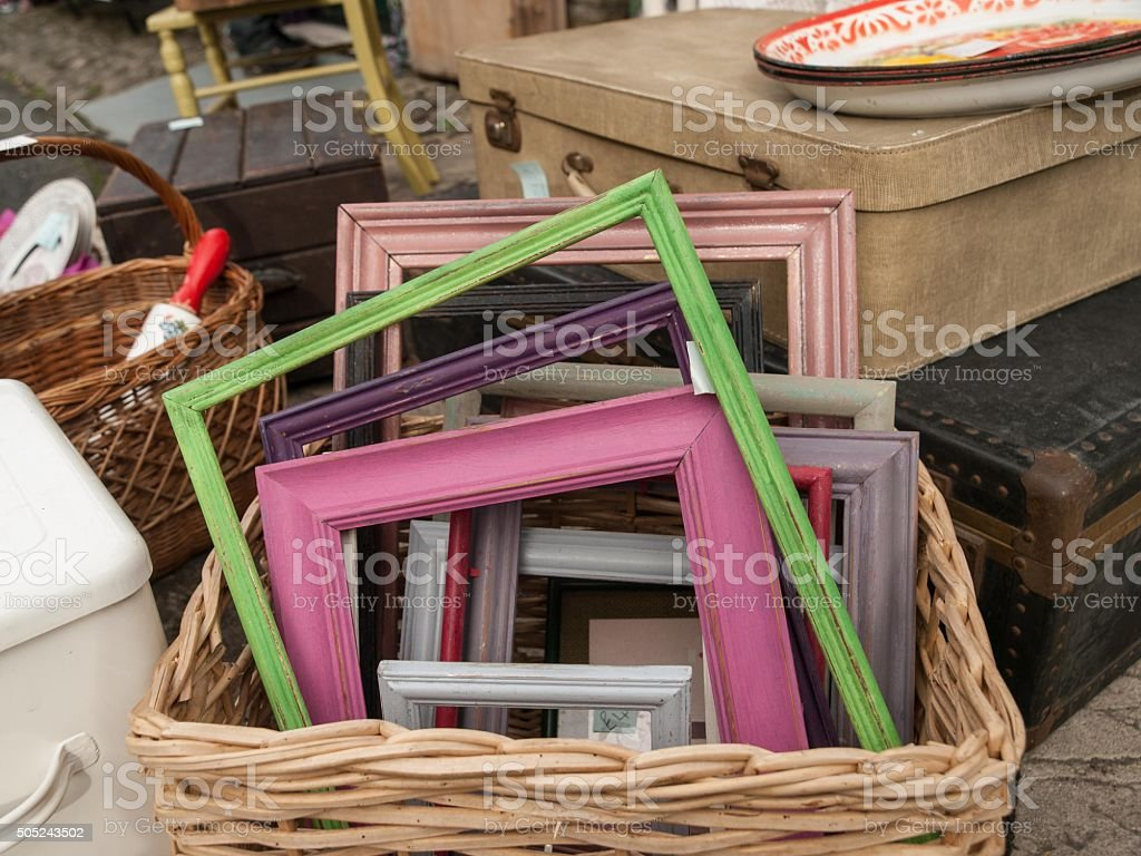 Frames in Basket stock photo
