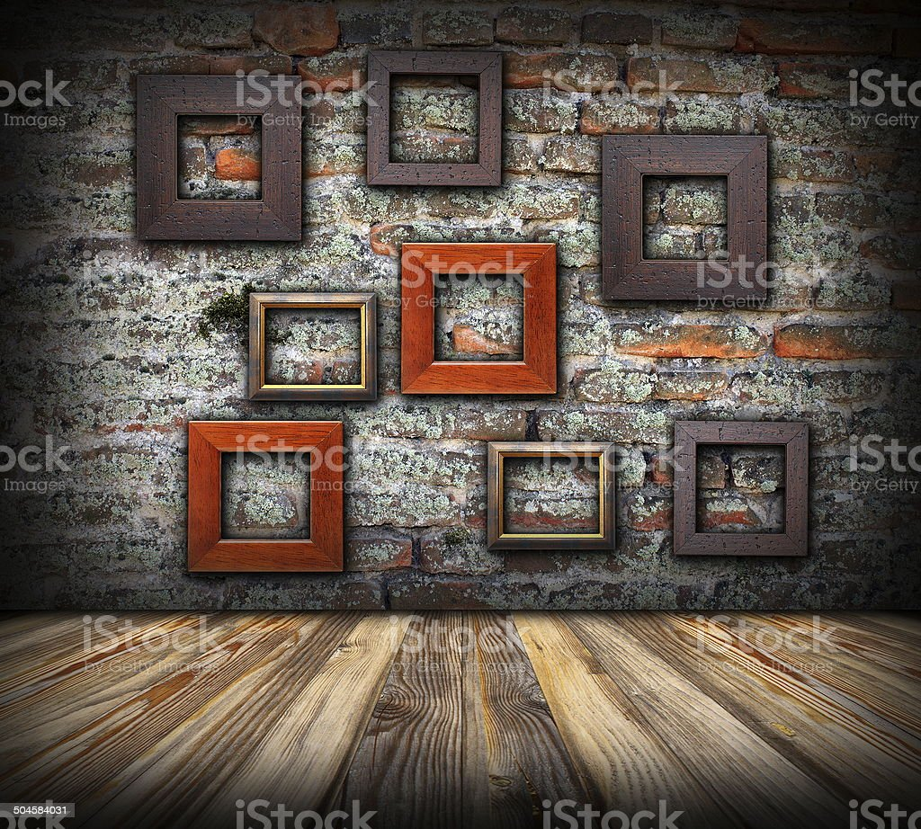 frames on weathered wall royalty-free stock photo
