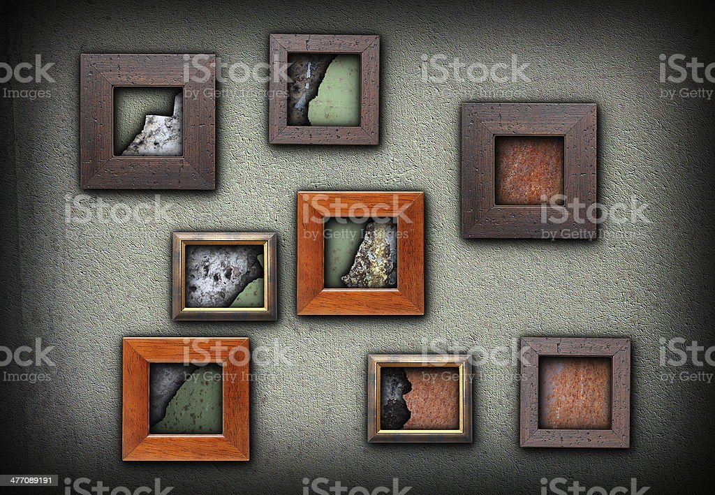 frames with grungy textures royalty-free stock photo