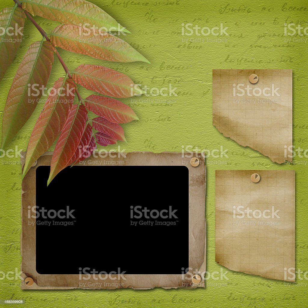 Framework for photo or congratulation. Abstract background royalty-free stock photo