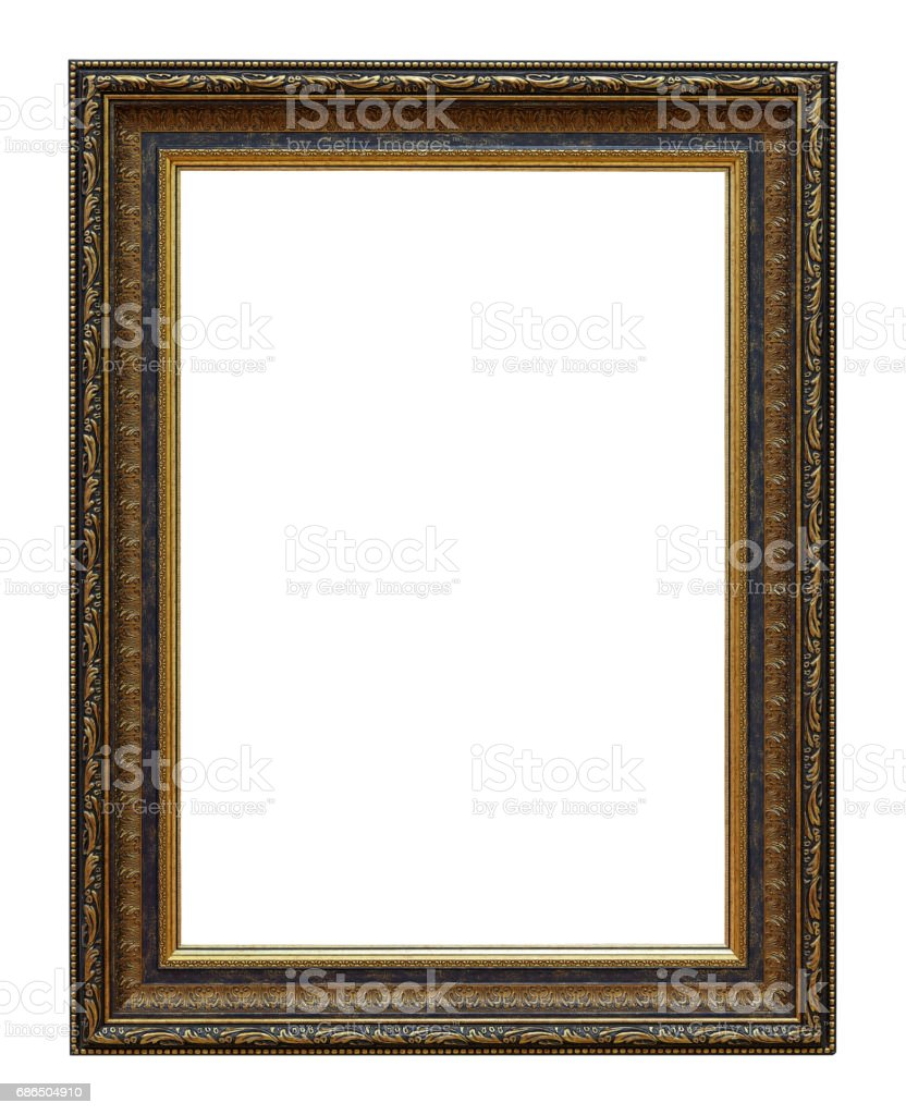 Framework in antique style. classy frame - square shape. Vintage picture frame isolated on white background royalty free stockfoto