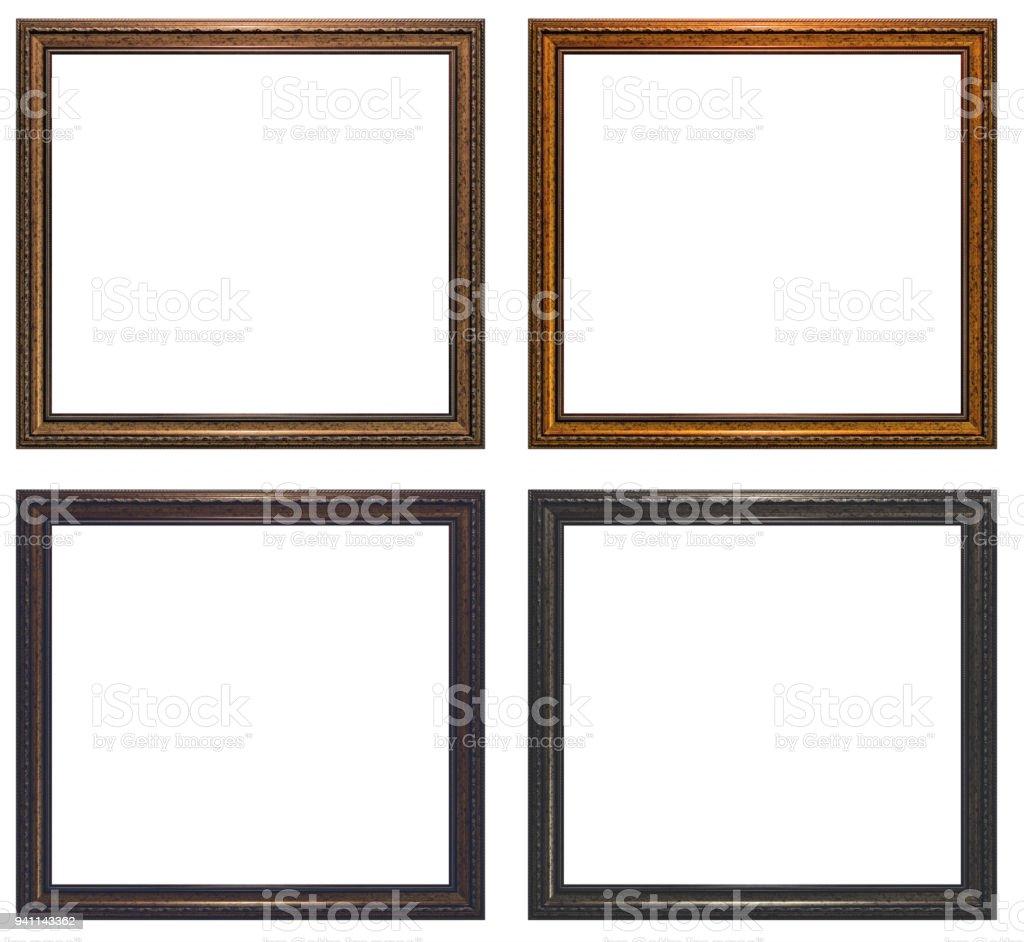 Framework In Antique Style Classy Gilded Frame Square Shape Stock ...