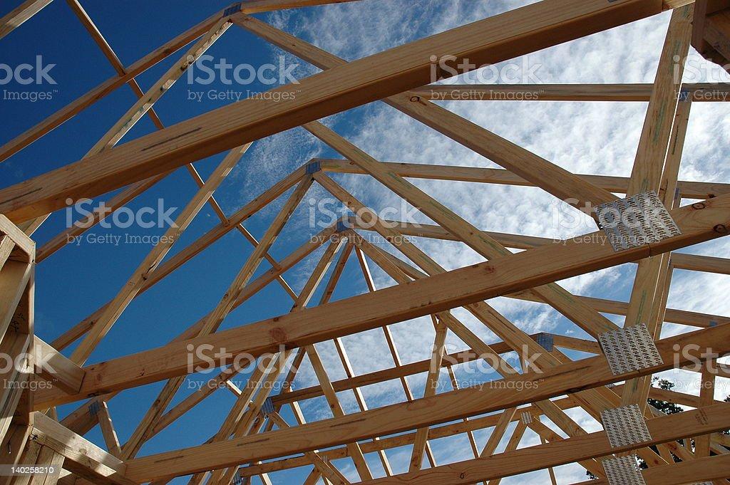 framework of beams stock photo