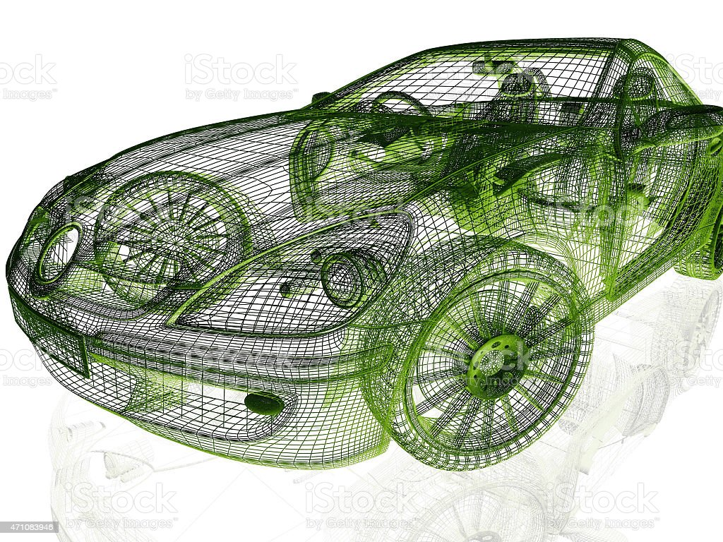 Framework of Model Car stock photo