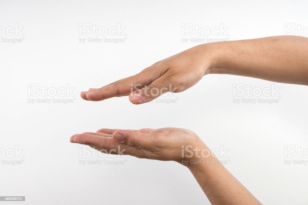 Framing Hands Isolated royalty-free stock photo