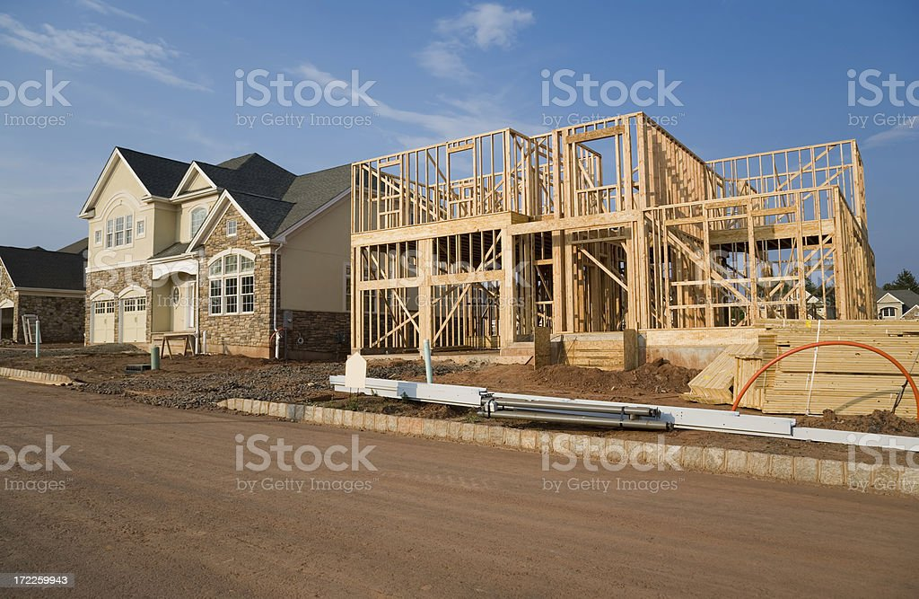 Framing in a Development stock photo
