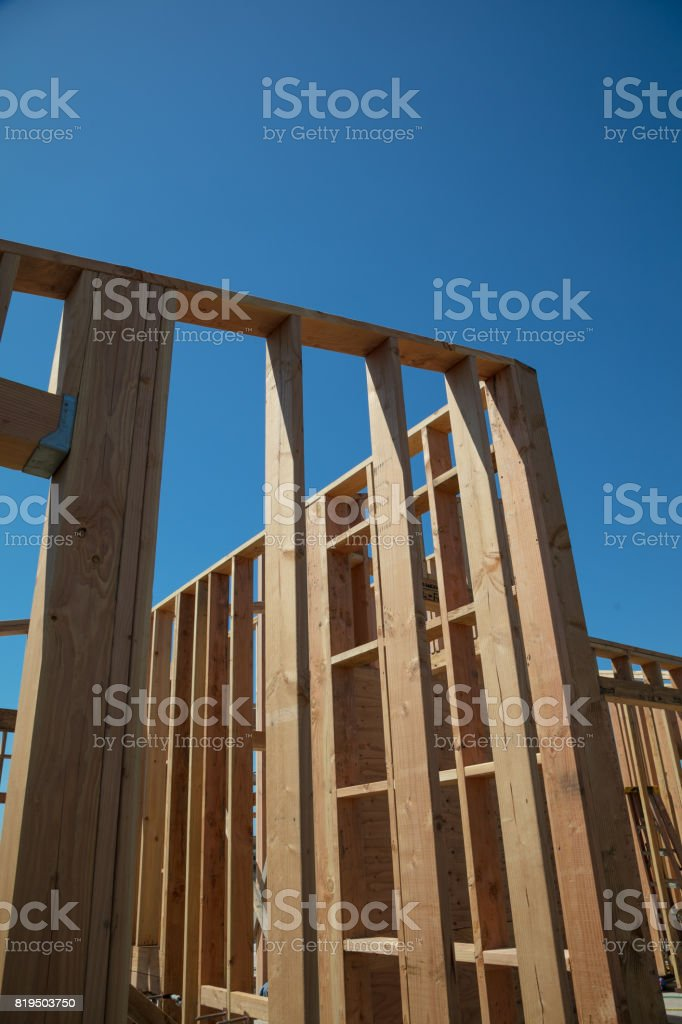 Framing of a house stock photo