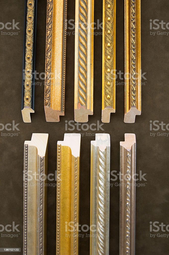 Framing Sticks Assortment royalty-free stock photo