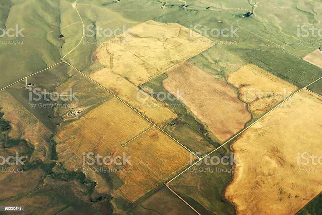 Framland view from the sky royalty-free stock photo