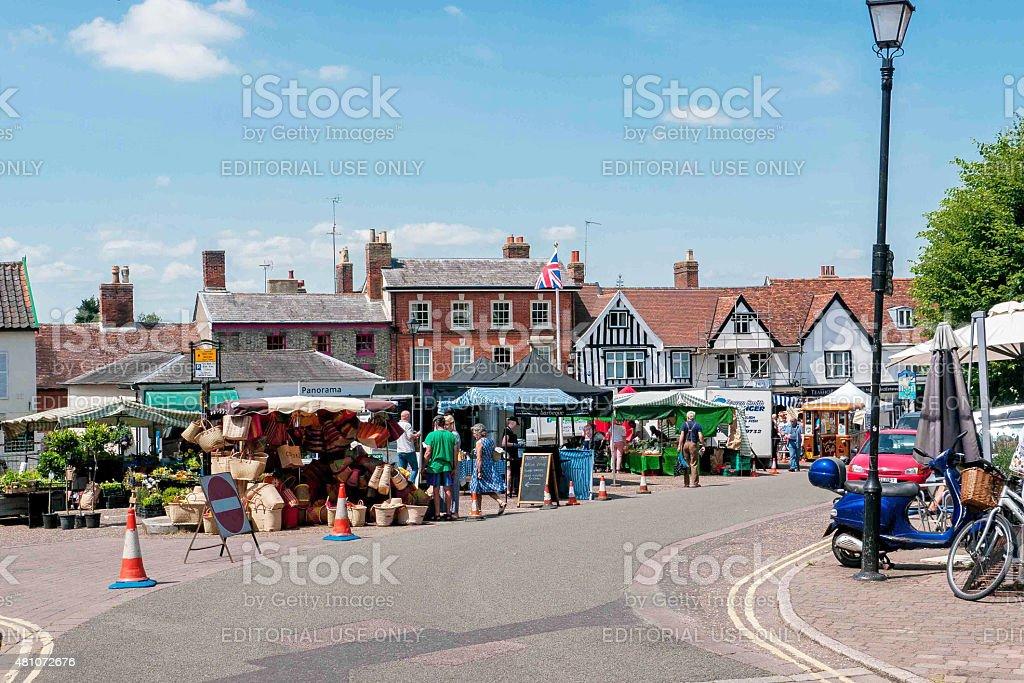 Framlingham Market Square stock photo