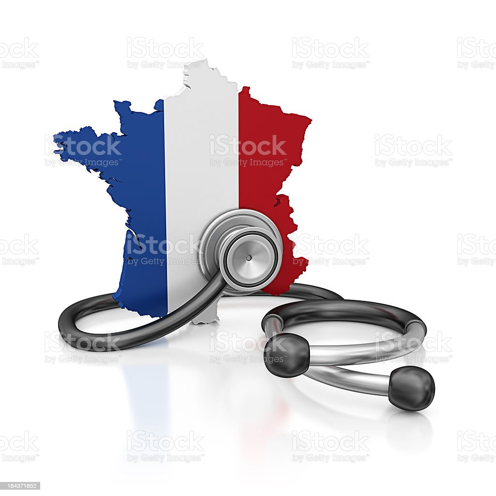 france and stethoscope royalty-free stock photo