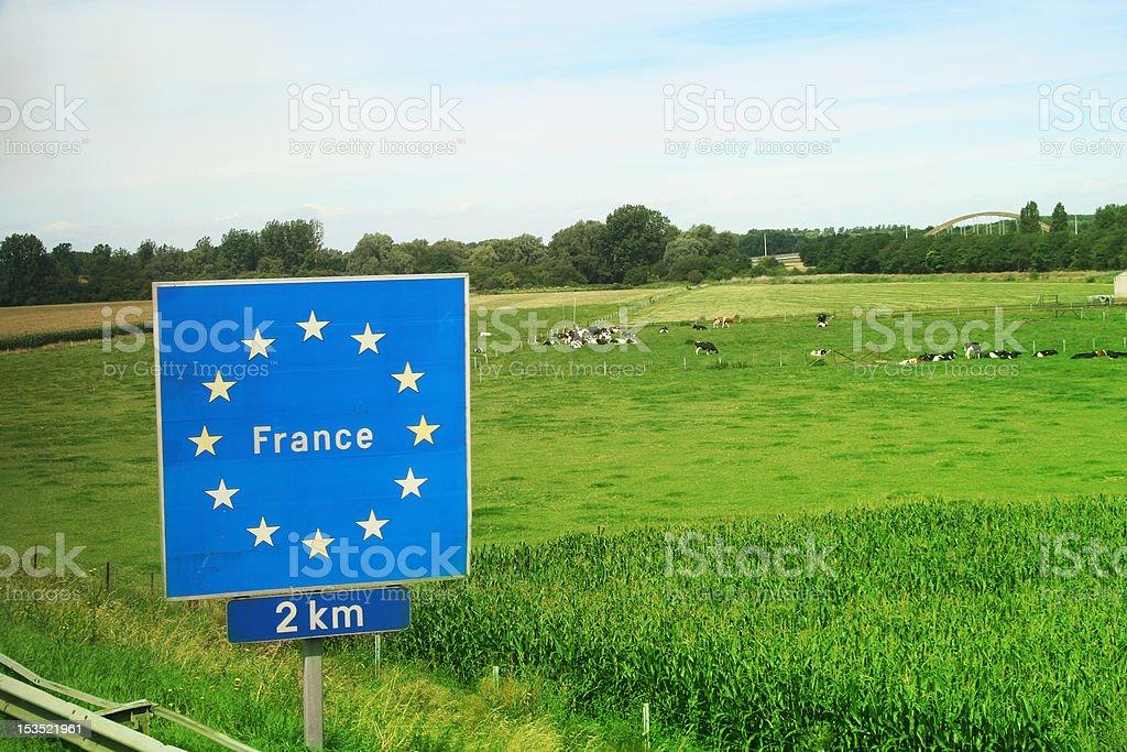 EU France board sign stock photo