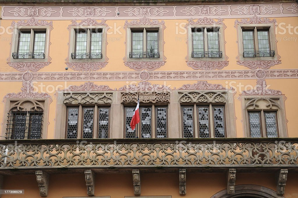 France, city hall of  Obernai in Alsace stock photo