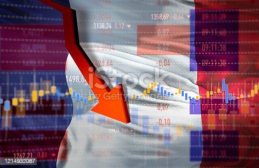 istock France Economy Crash 1214932087