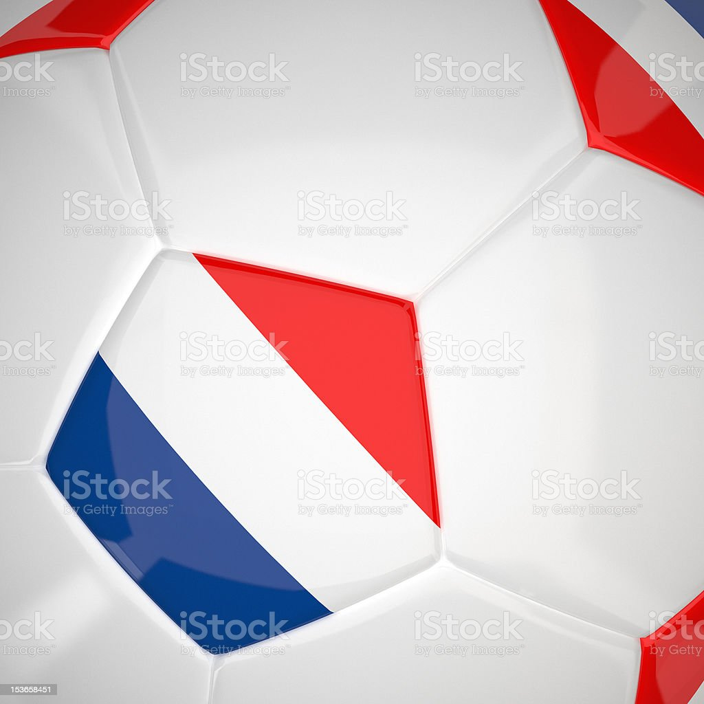 France flag on 3d Football royalty-free stock photo