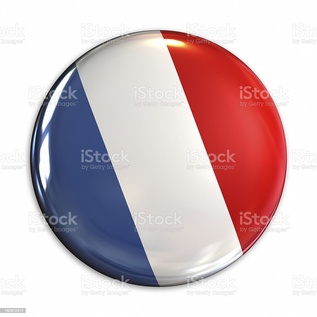 France flag pin royalty-free stock photo