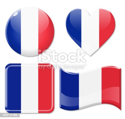 istock France Flags & Icon Set 453101891