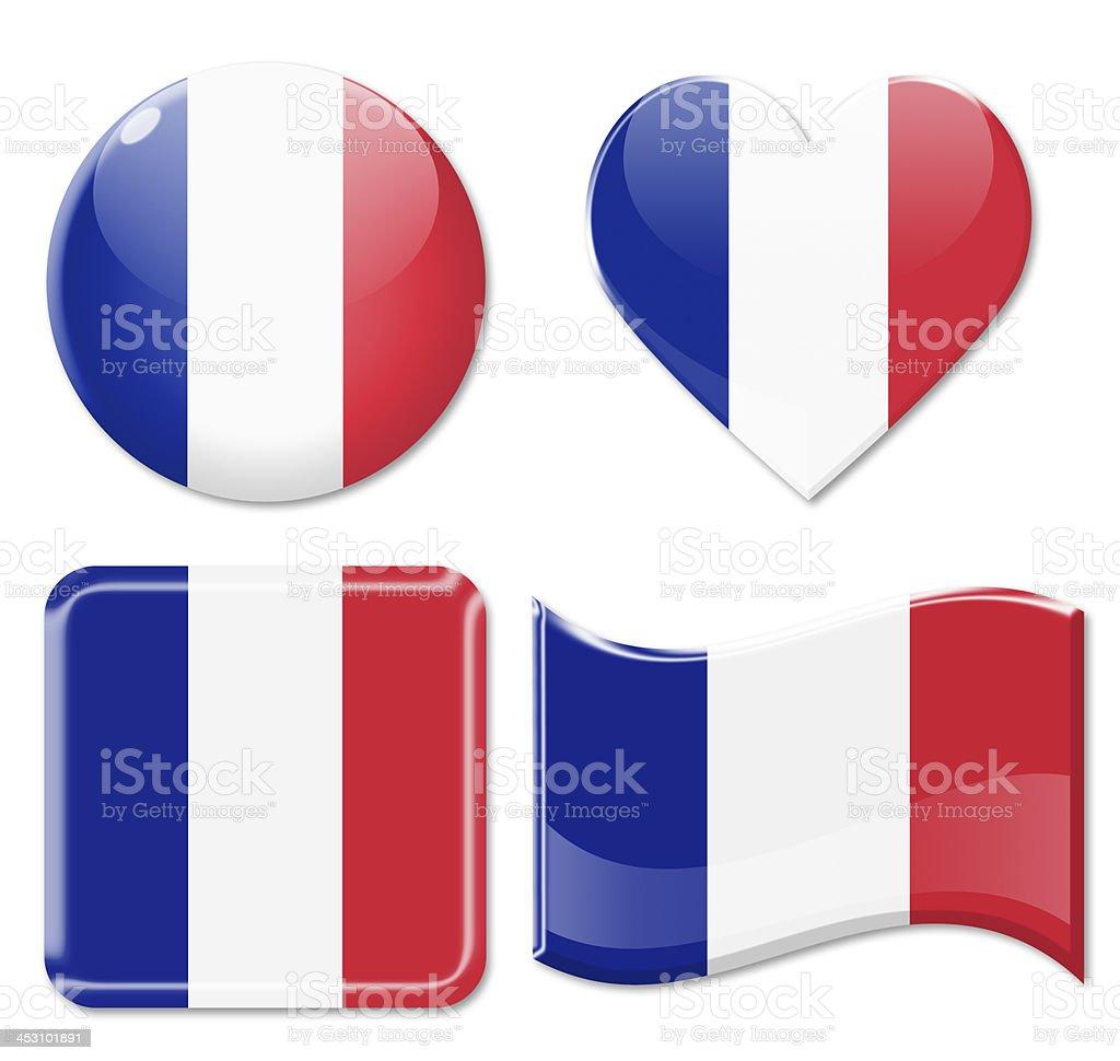 France Flags & Icon Set stock photo
