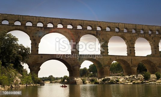 The Pont du Gard is a famous ancient Roman aqueduct that crosses the Gardon River in southern France