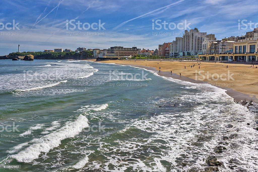 France : Grande Plage de Biarritz dans le golfe de Gascogne - Photo