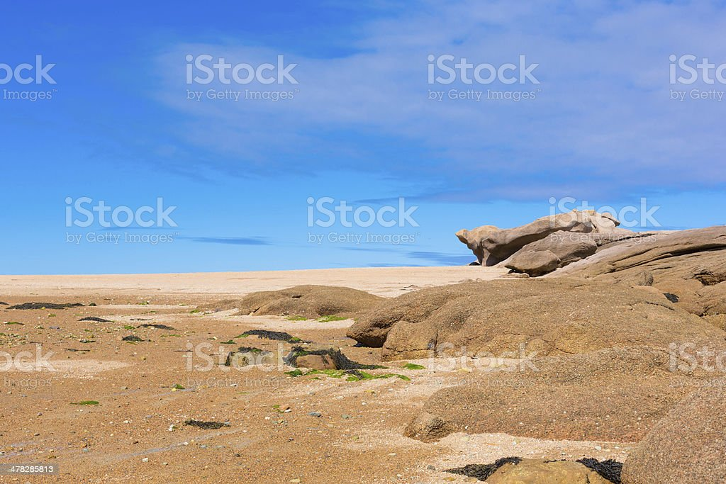 France, Granite Coast royalty-free stock photo