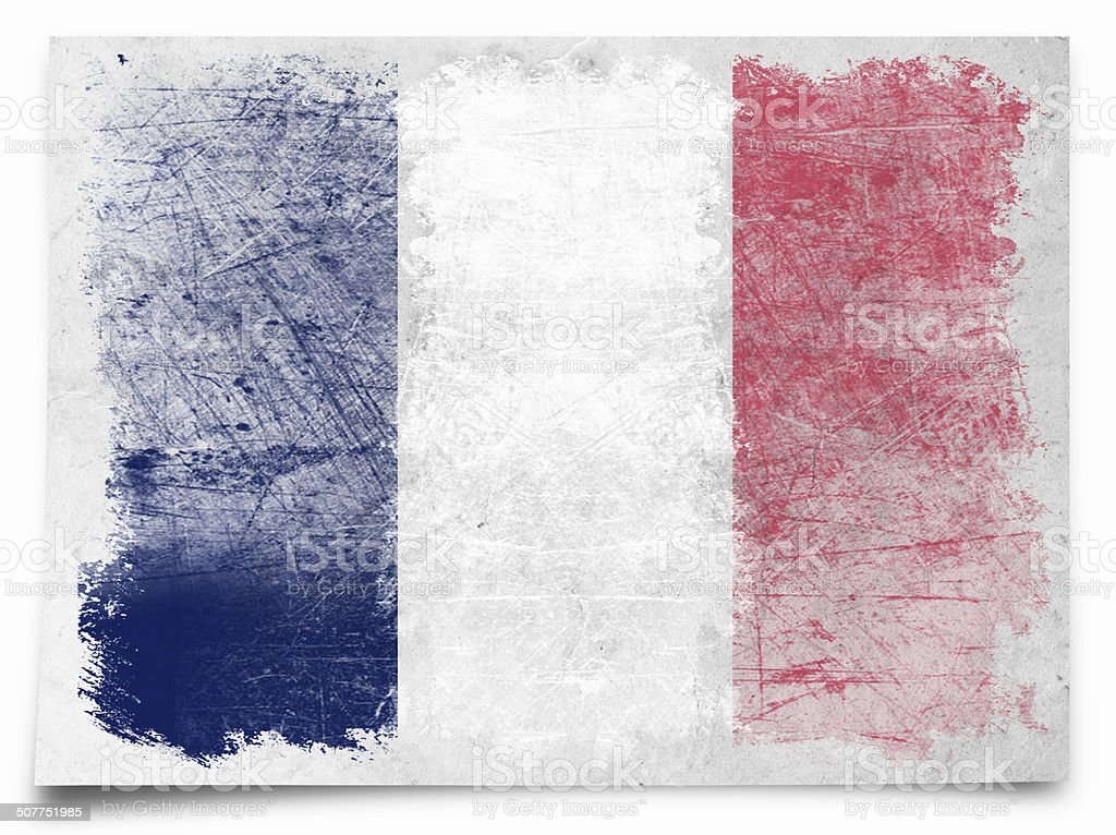 france Grunge flag stock photo