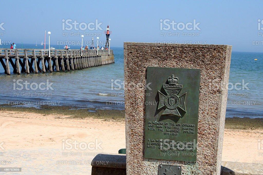France: Juno Beach at Courseulles-sur-mer stock photo