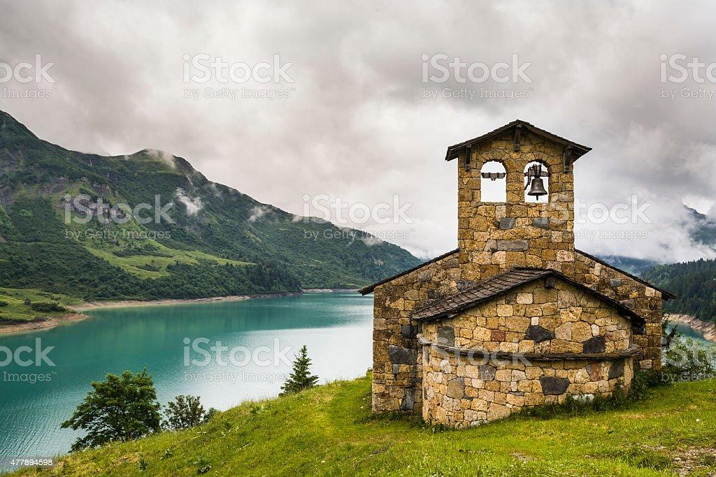La Francia. Lac de di Roselend. La cappella - foto stock