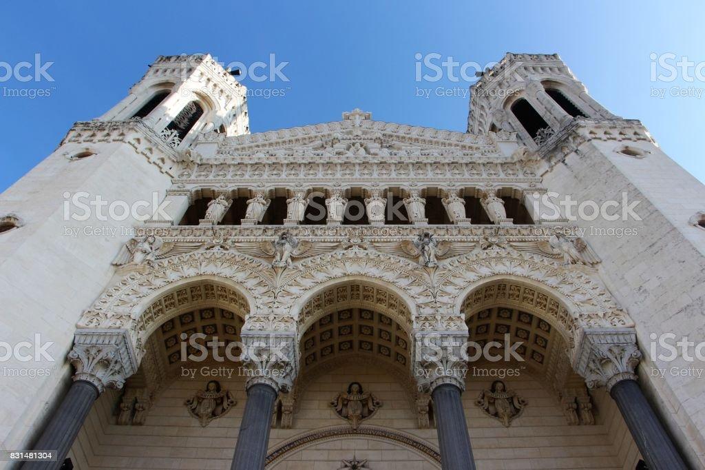 France, Lyon - basilique de notre dame de fouriere stock photo