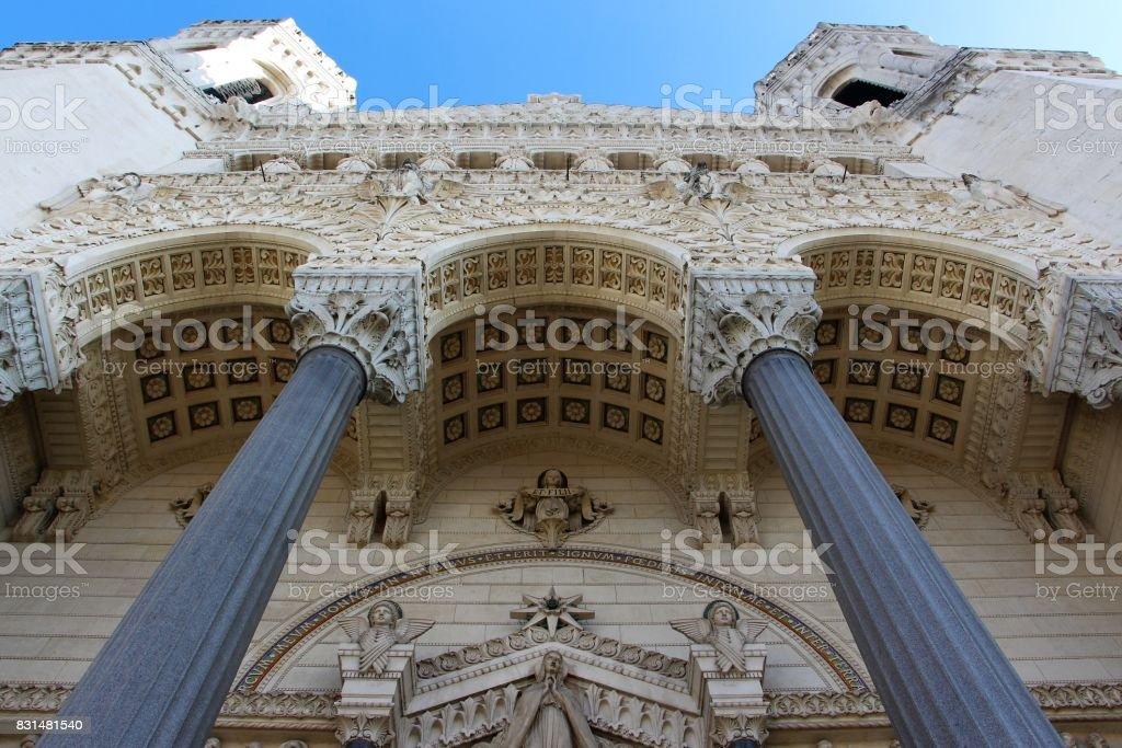 France , Lyon - basilique de notre dame de la fourière stock photo