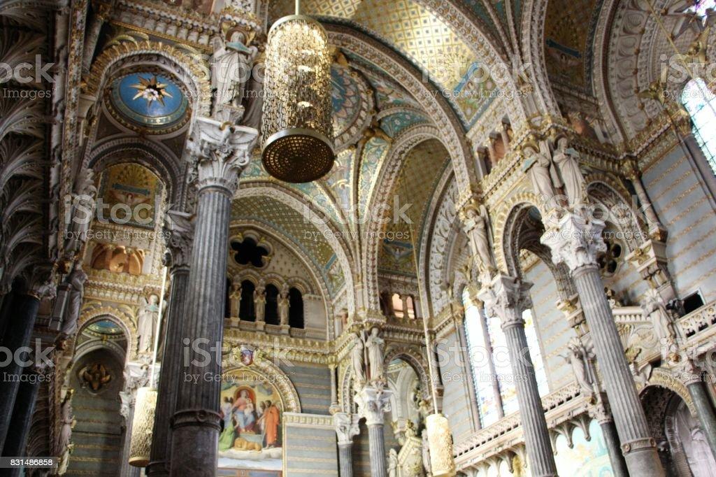 France, lyon - cathédrale de notre dame de Fourvière, interieur - Photo