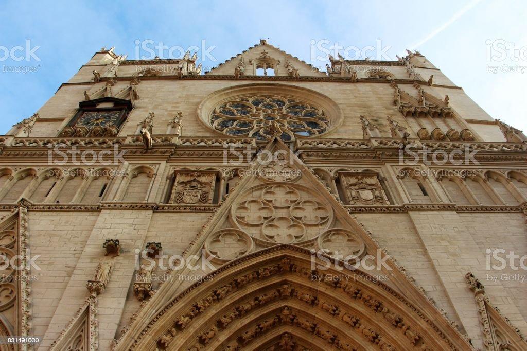 France, Lyon - cathedrale St-Jean stock photo