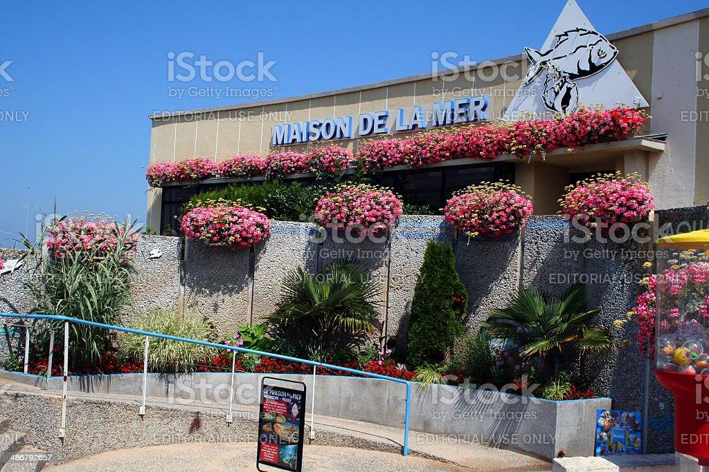 France: Maison de la Mer (Aquarium) at Courseulles-sur-mer stock photo