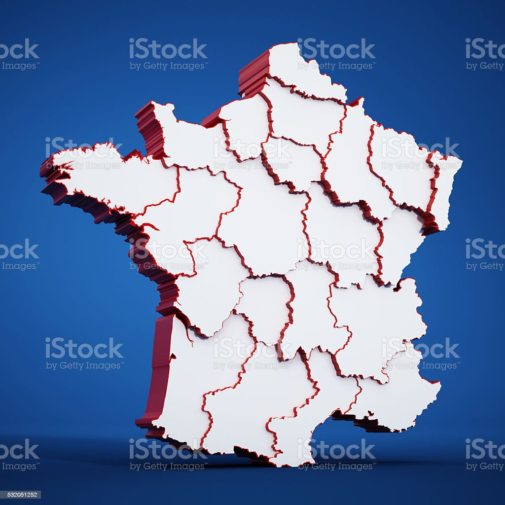 Borders Of France Map.France Map Showing City Borders Stock Photo More Pictures Of City