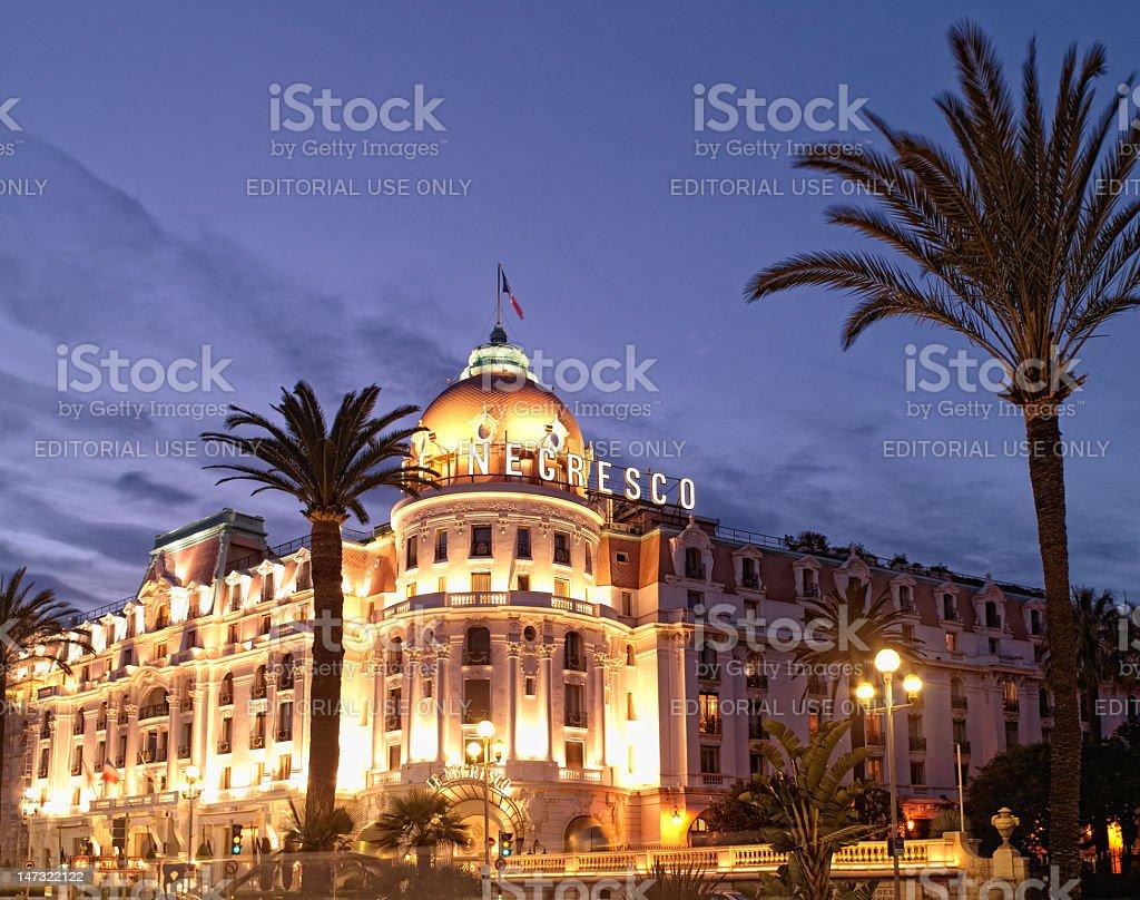 France - Nice  Hotel Negresco royalty-free stock photo