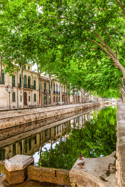 France - Nimes old town stock photo