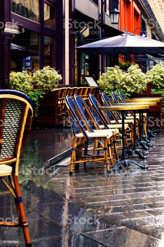 France. Paris. France. Paris. View on a street after rain stock photo