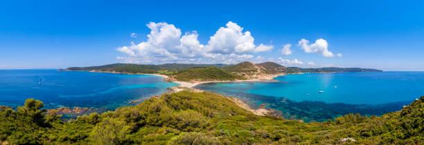 France - peninsula coastline of Cap Camarat stock photo