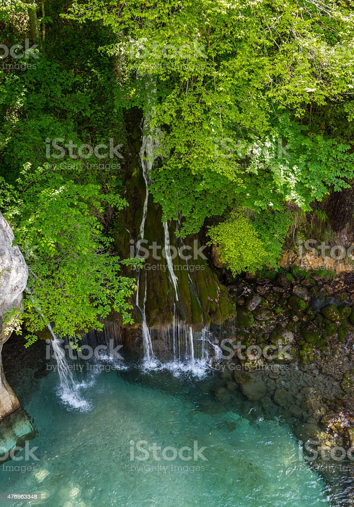 France. Provence. Department of Alpes Maritimes. The Gorges du Loup stock photo