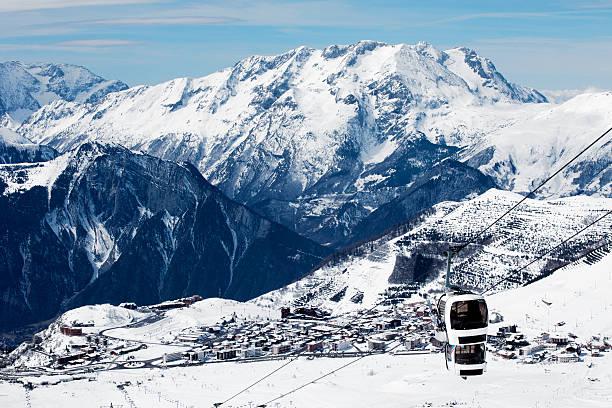 France ski resort Alpe d'Huez stock photo
