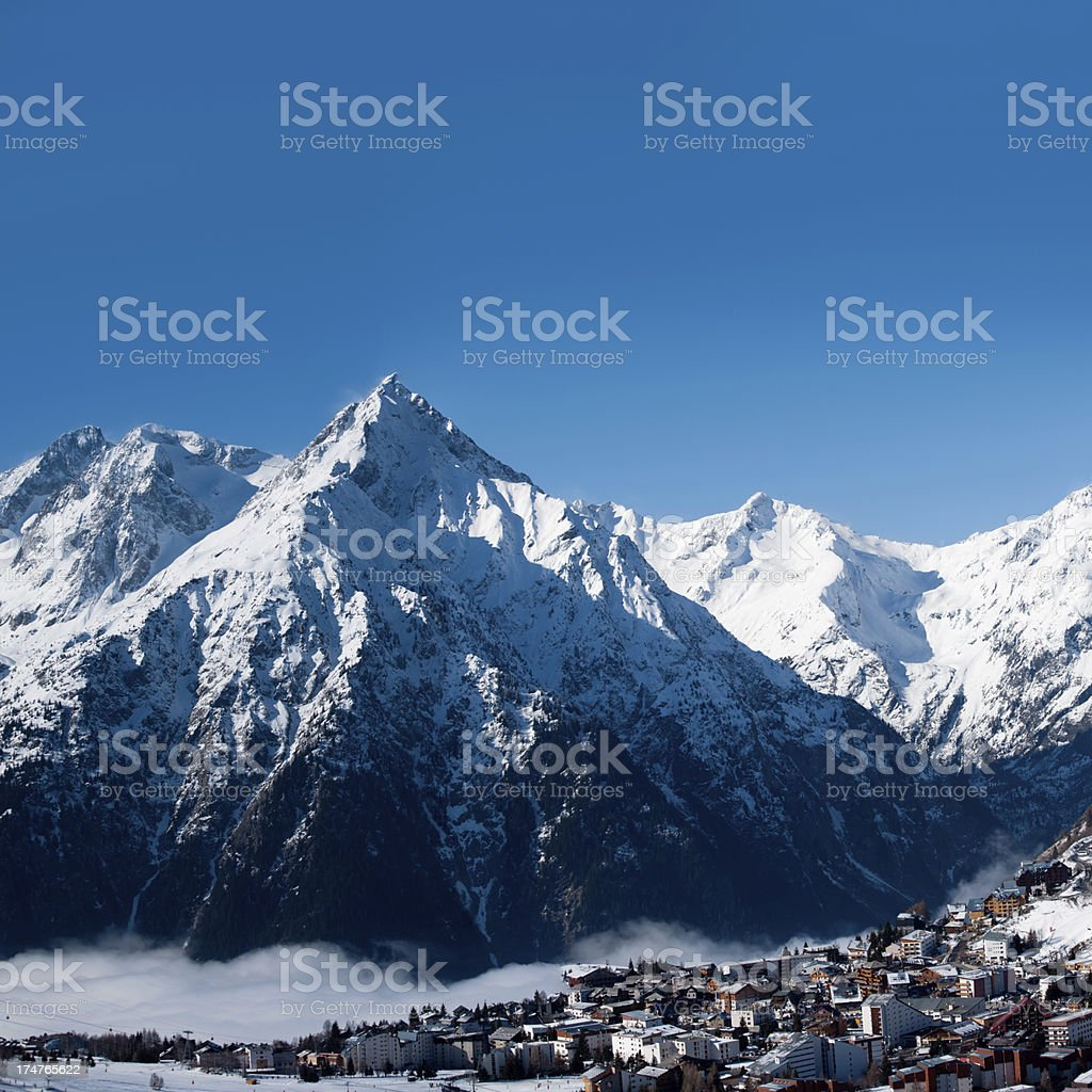 France ski resort Les 2 Alpes stock photo