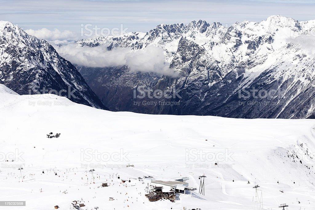 France ski resort Les Deux Alpes stock photo