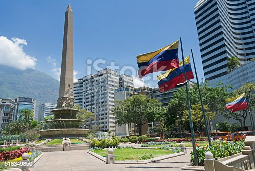 Caracas, Venezuela - March 25, 2016: Plaza Francia (France Square), also known as