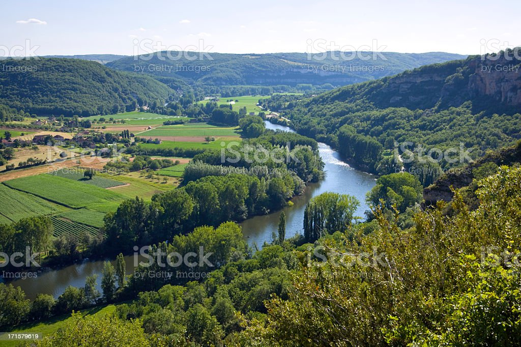France, the rural Lot Valley near St Martin Labouvel stock photo