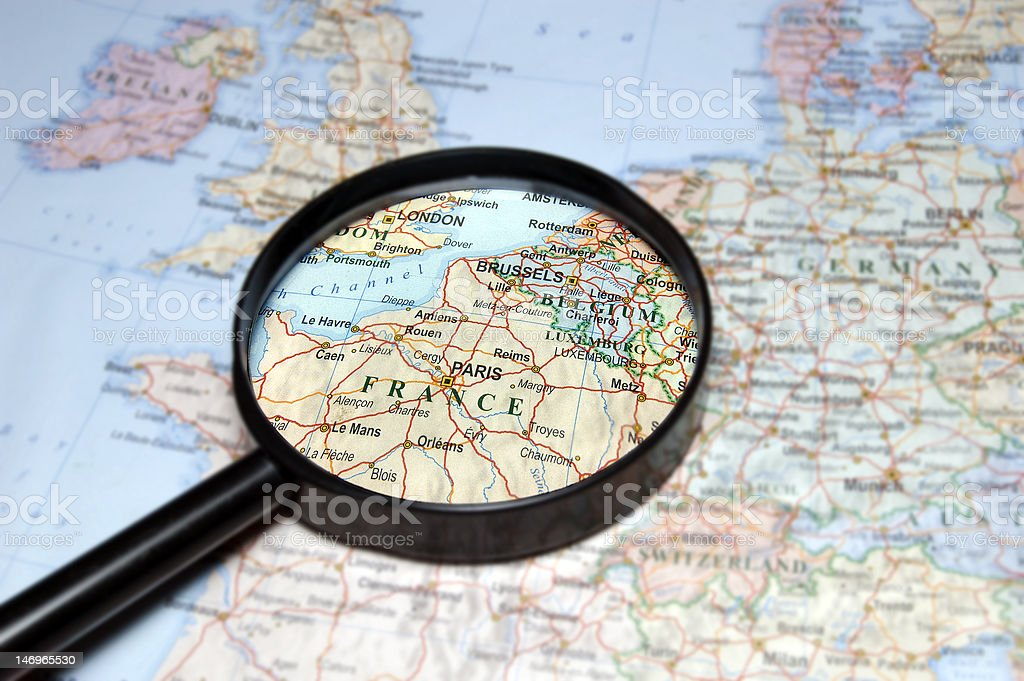France under magnifier royalty-free stock photo