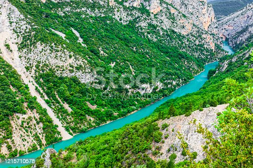 Verdon Gorge, the deepest canyon in Europe located among the departments of Var and Alpes de Haute Provence