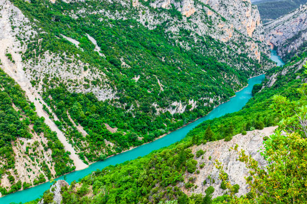 France - Verdon Gorge Verdon Gorge, the deepest canyon in Europe located among the departments of Var and Alpes de Haute Provence var stock pictures, royalty-free photos & images