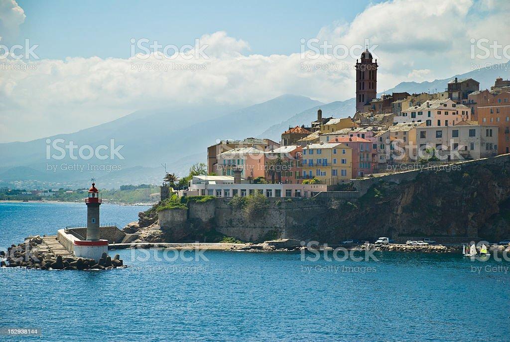 France, view of Bastia stock photo