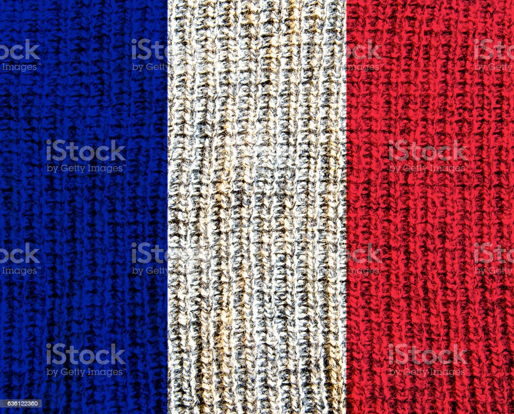 France Wool Textured Flag - stock photo