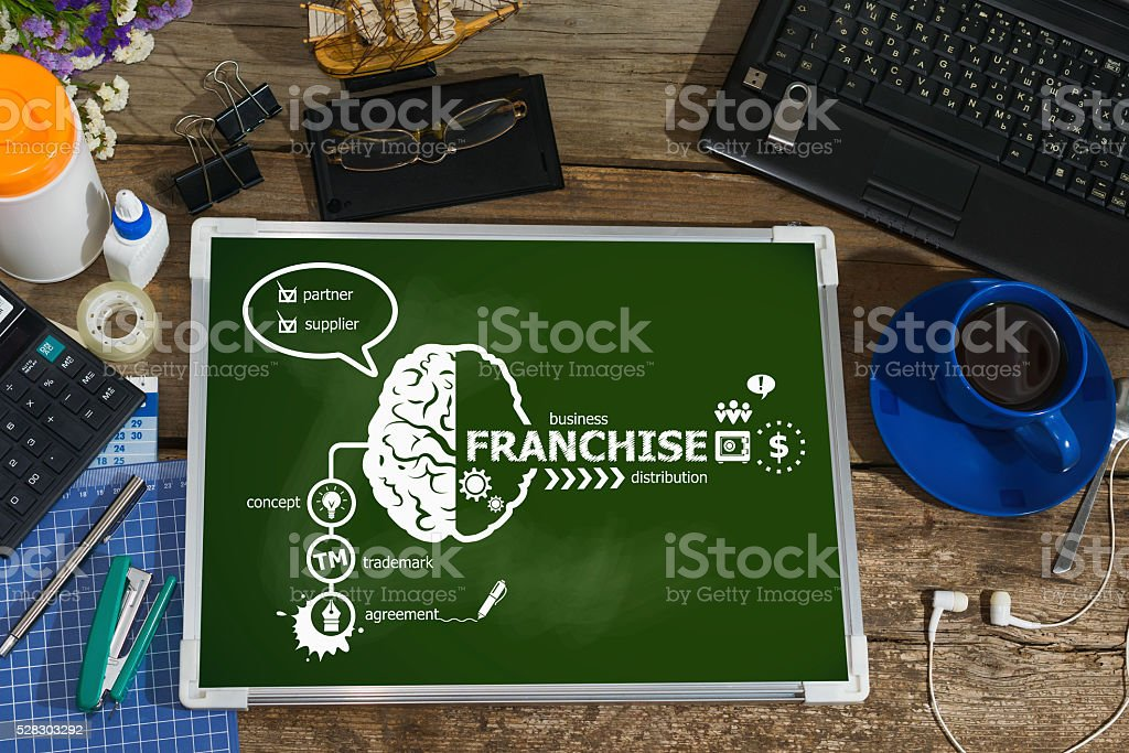 Franchise concept for business, consulting, finance stock photo